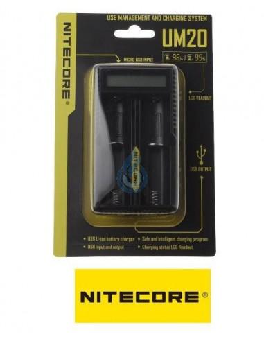 CARGADOR UM20 (dual) de Nitecore