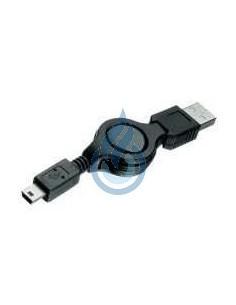 CABLE Retráctil USB a Mini USB