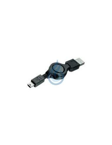 Cargador Retráctil USB a Mini USB