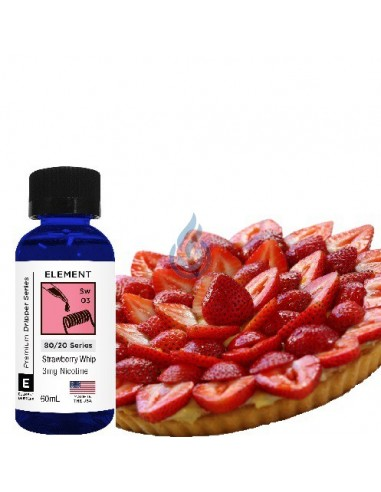 Strawberry Whip de Element E-liquid