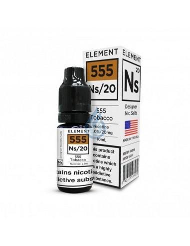 555 Tobacco en SAL de nicotina de Element E-liquid